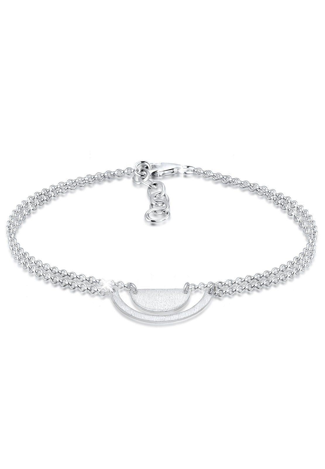 Elli Armband »Geo Halbkreis Minimal Brushed 925 Sterling Silber«