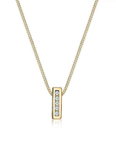 Ortrand Angebote Diamore Halskette »Klassisch Elegant Diamant (0.10 ct.) 585 Gelbgold«