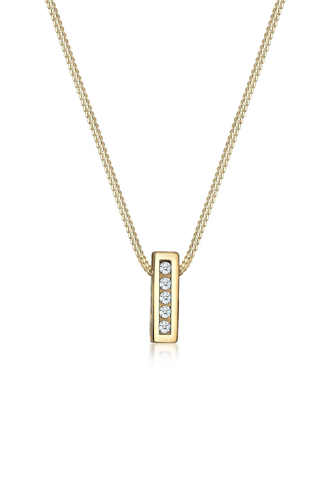 Diamore Halskette »Klassisch Elegant Diamant (0.10 ct.) 585 Gelbgold«