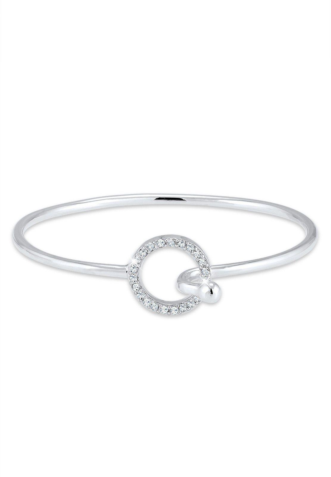 Elli Armband »Geo Kreis Blogger Swarovski® Kristalle 925 Silber«