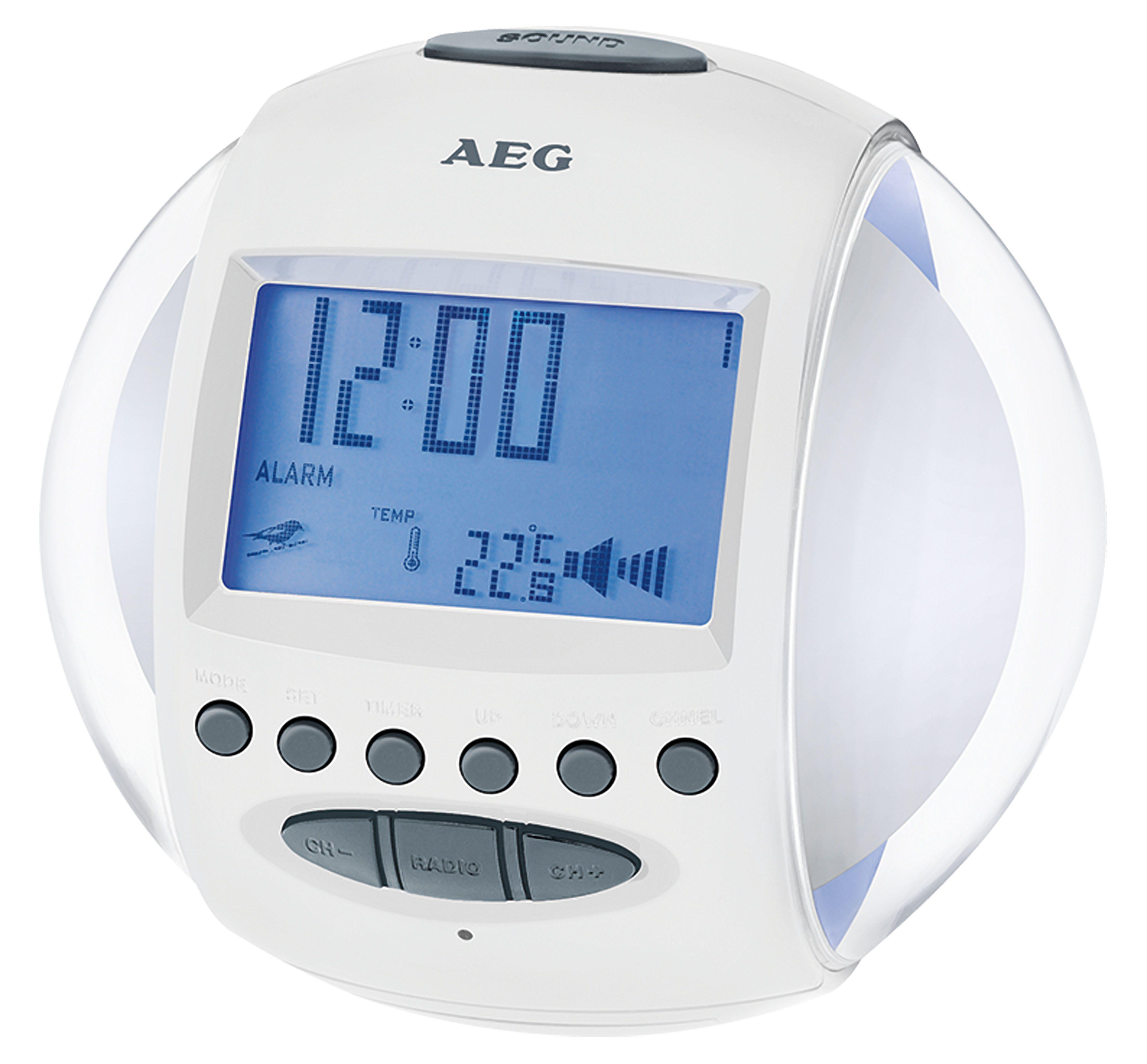 AEG UKW Uhrenradio mit Datums-und Temperaturanzeige »MRC 4117«
