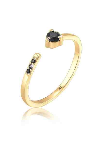 Elli Ring »Geo Statement Swarovski® Kristalle 925 Silber«