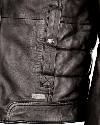 Mustang Lederjacke mit Steppnähten Terence