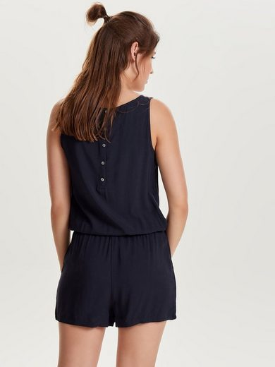 Only Einfarbiger Playsuit