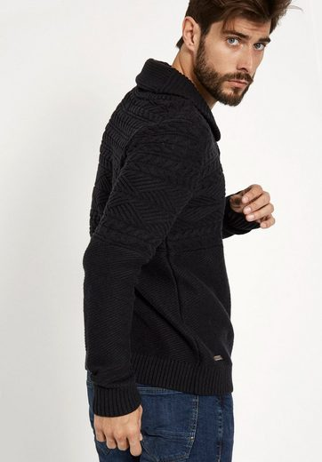 Khujo V-neck Pullover Nicolas, With Different Structures
