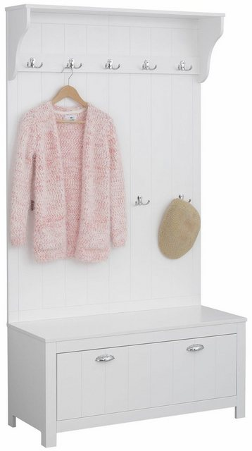 Garderoben Sets - Home affaire Kompaktgarderobe »Mille« aus massiver Kiefer, 100 cm breit  - Onlineshop OTTO