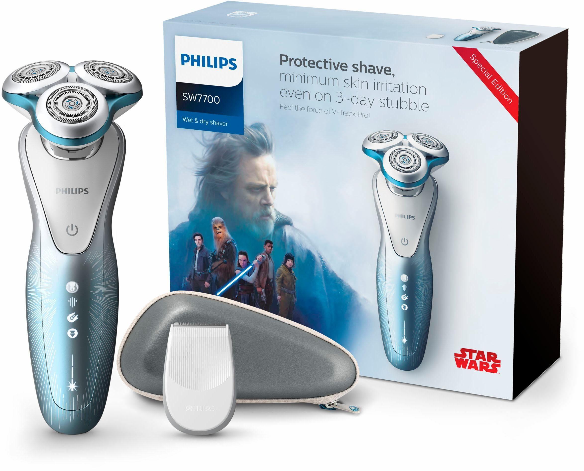 Philips Elektrorasierer Series 7000 - Luke Skywalker SW7700/67, Aufsätze: 1, Langhaartrimmer, inkl. Etui, Special Edition in hochwertiger Geschenkverpackung