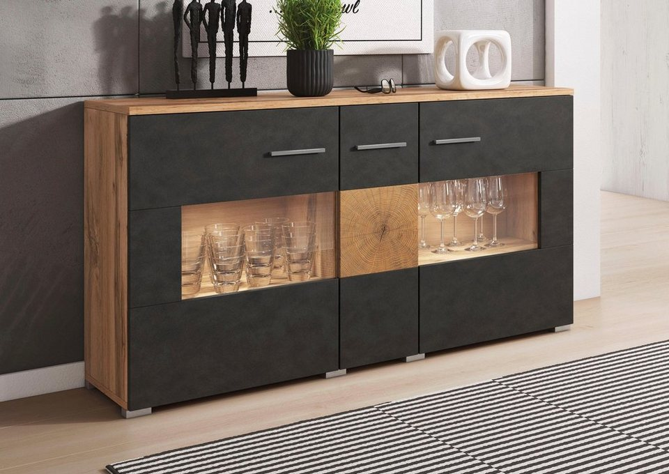 sideboard wobona breite 135 cm online kaufen otto. Black Bedroom Furniture Sets. Home Design Ideas