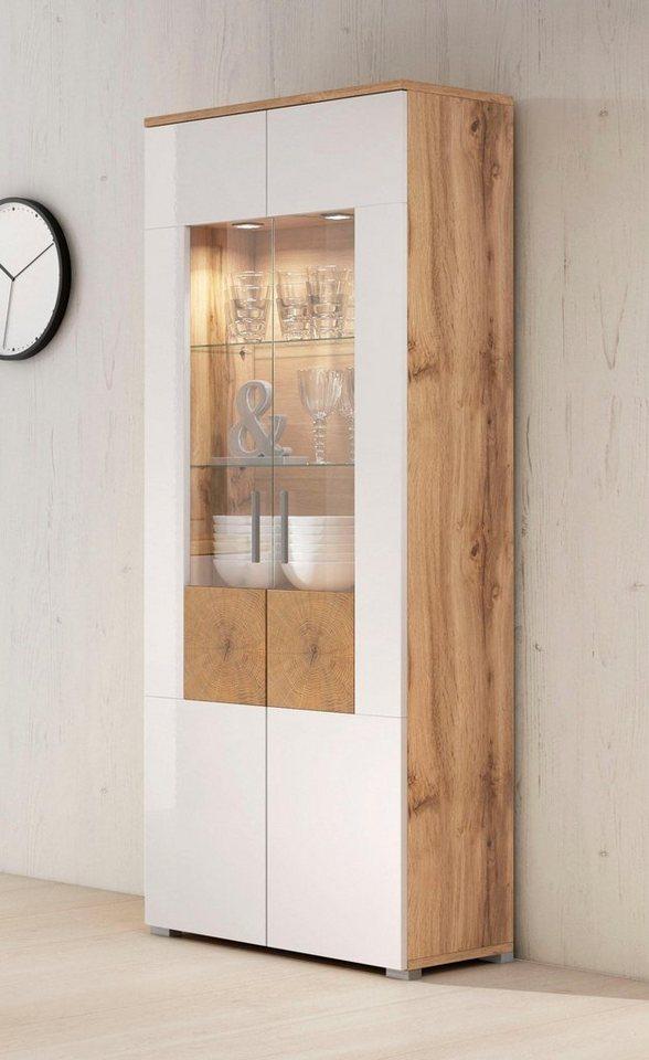 Vitrine »Wobona«, Höhe 180 Cm Mit 2 Türen Kaufen | Otto