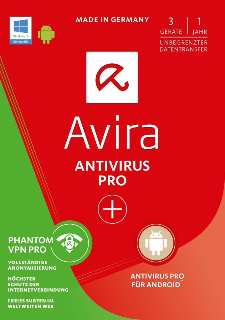 Avira Software »Avira AntiVirus Pro + Android Pro + Phantom VPN«