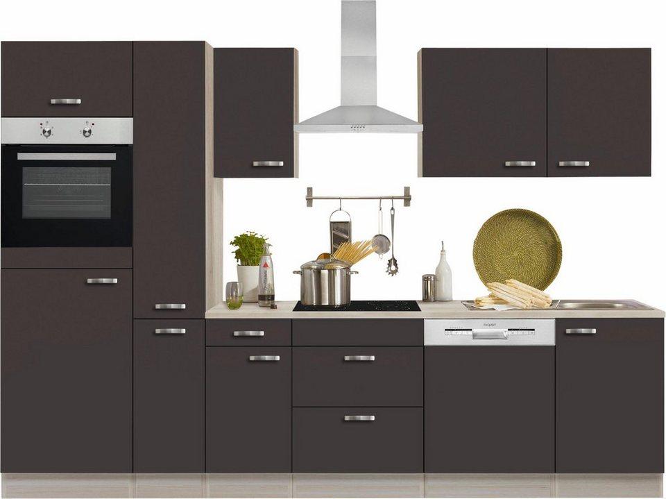 optifit k chenzeile mit e ger ten faro breite 300 cm online kaufen otto. Black Bedroom Furniture Sets. Home Design Ideas