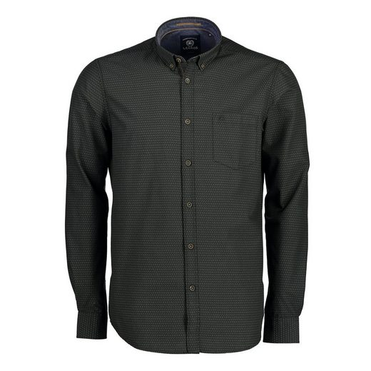 LERROS Button-Down-Hemd in Dobbystruktur