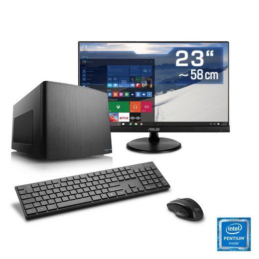 CSL Mini-ITX PC Set, Pentium G4560, HD 610, 8 GB DDR4, SSD »Multimedia Box T1894 Windows 10«