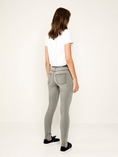 Pieces High Waist Washed Jeggings