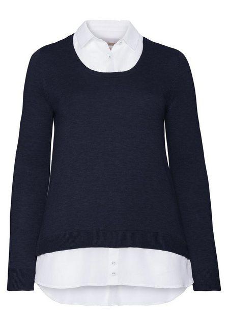 Sheego 2-in-1-Pullover mit 2-in-1-Optik   Bekleidung > Pullover > 2-in-1 Pullover   Sheego