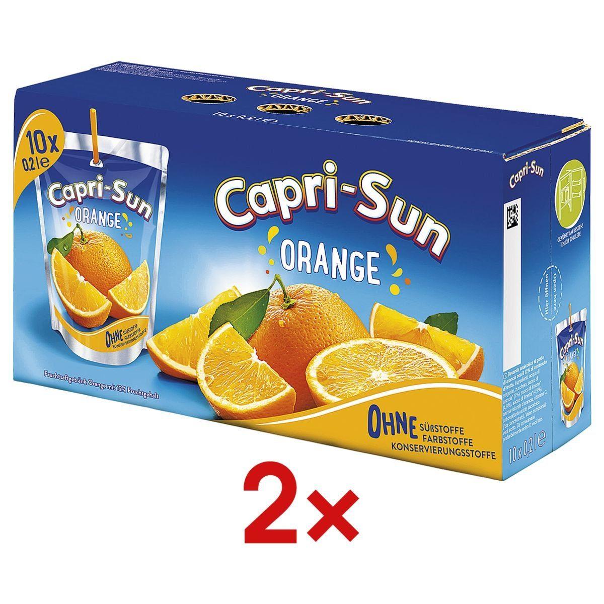 2 Packungen Fruchtsaftgetränk »Capri-Sun Orange« 1 Set