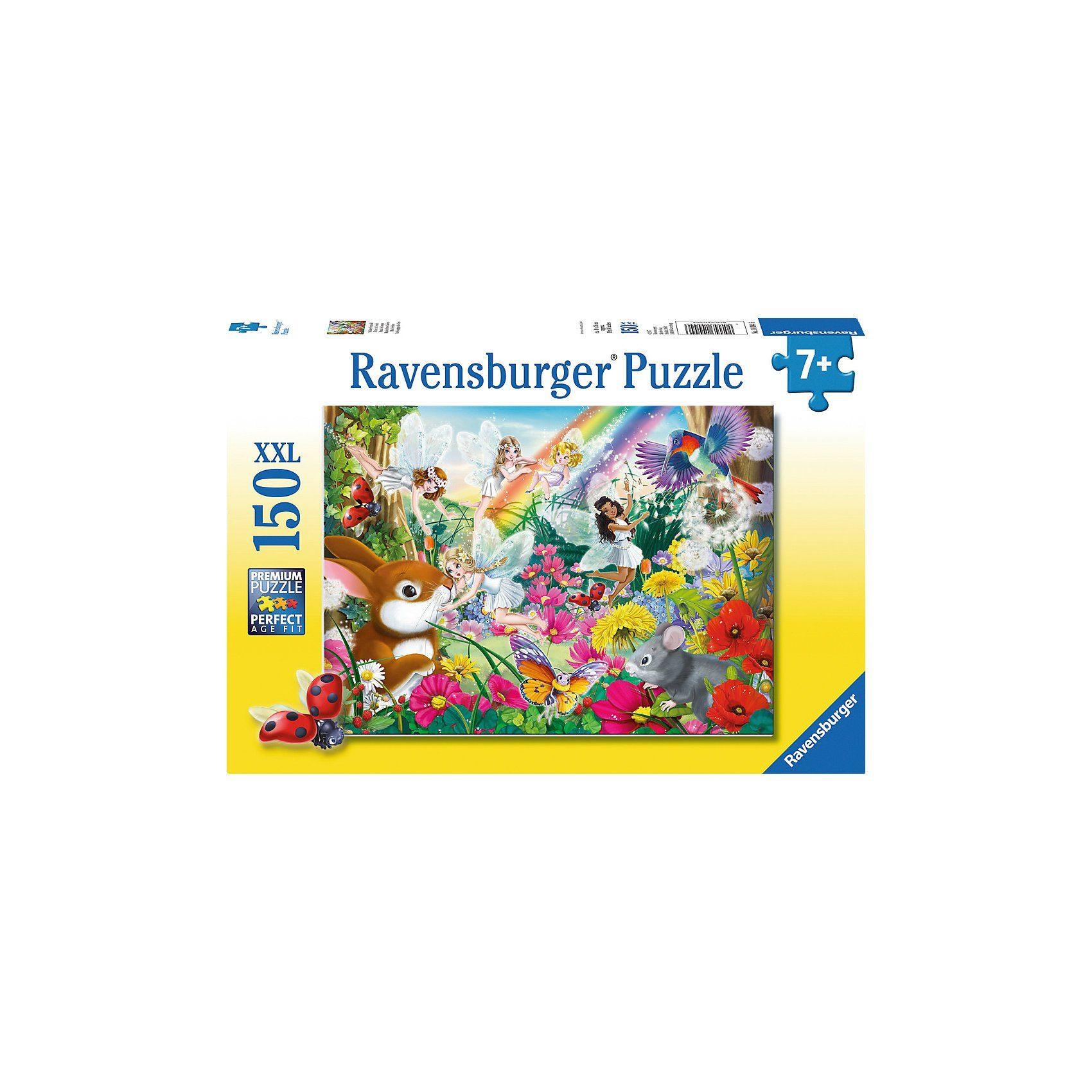 Ravensburger Puzzle, 150 Teile XXL, 49x36 cm, Schöner Feenwald