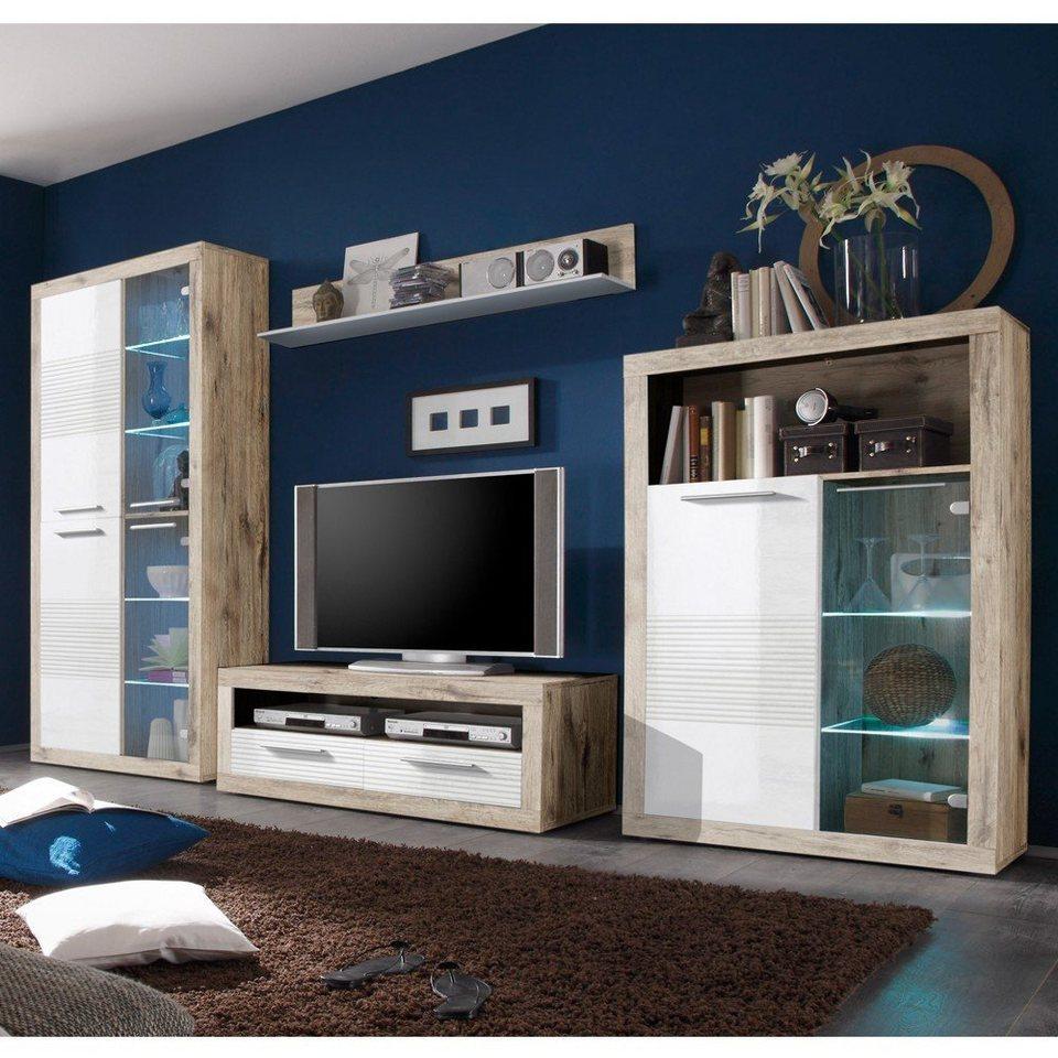 hti living wohnwand kolibri online kaufen otto. Black Bedroom Furniture Sets. Home Design Ideas