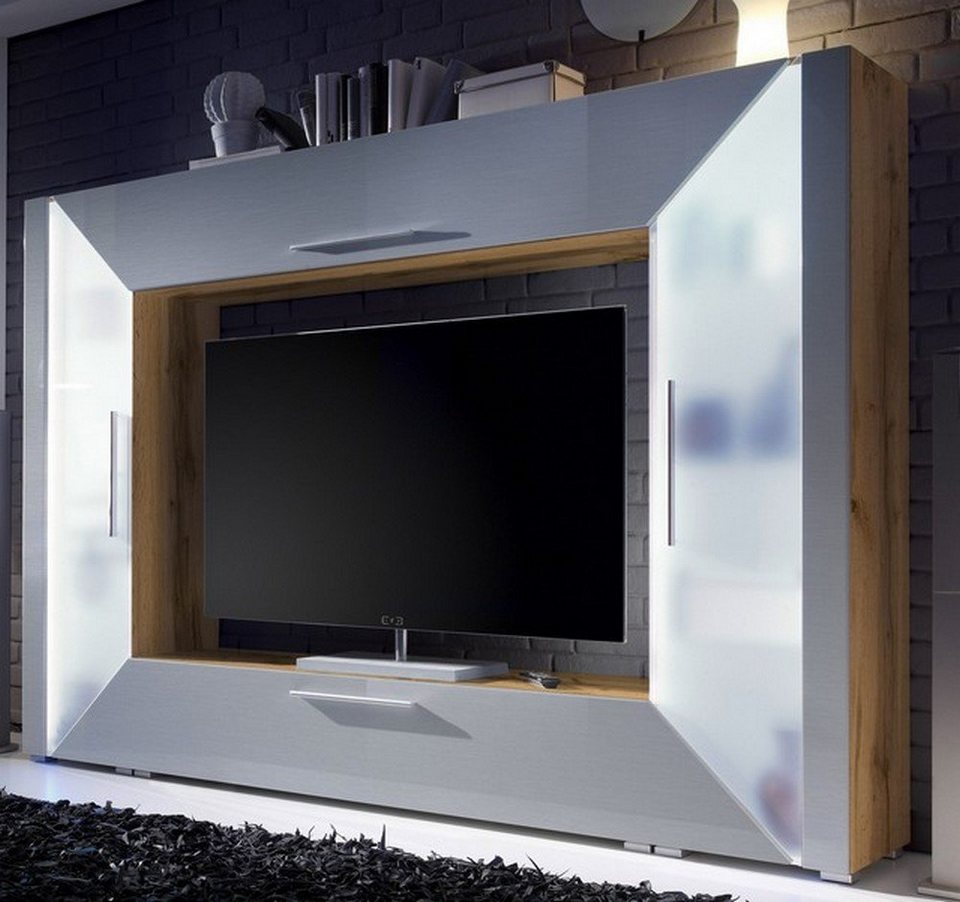 hti living wohnwand edge online kaufen otto. Black Bedroom Furniture Sets. Home Design Ideas