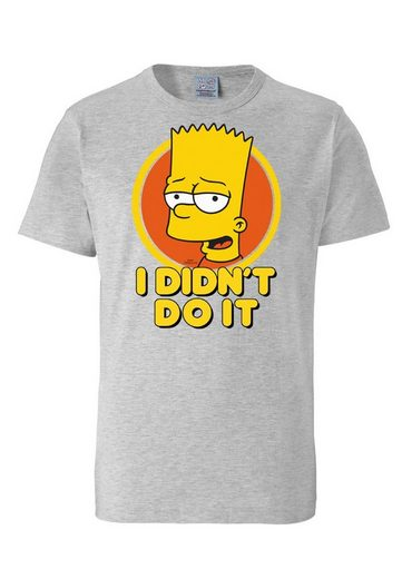 LOGOSHIRT Футболка »Bart - I Didn`t Do It - The Simpsons«