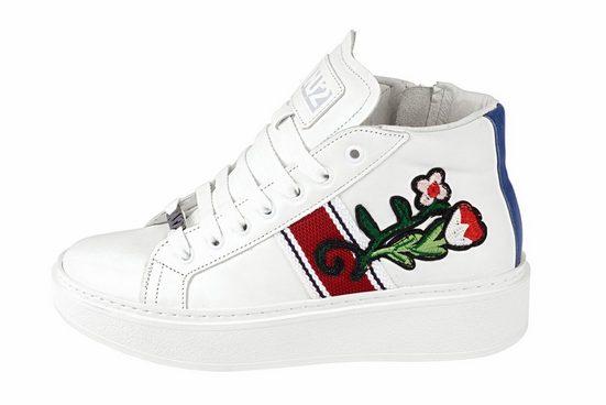 Heine Sneaker mit Blüten-Stickerei