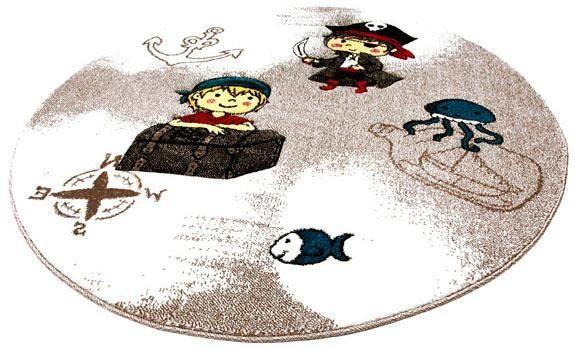 Kinderteppich »Momo Pirat«, Festival, rund, Höhe 13 mm