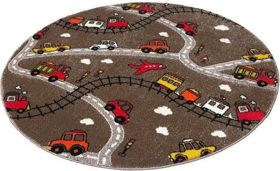 Kinderteppich »Momo Straße«, Quinna Kids World, rund, Höhe 13 mm