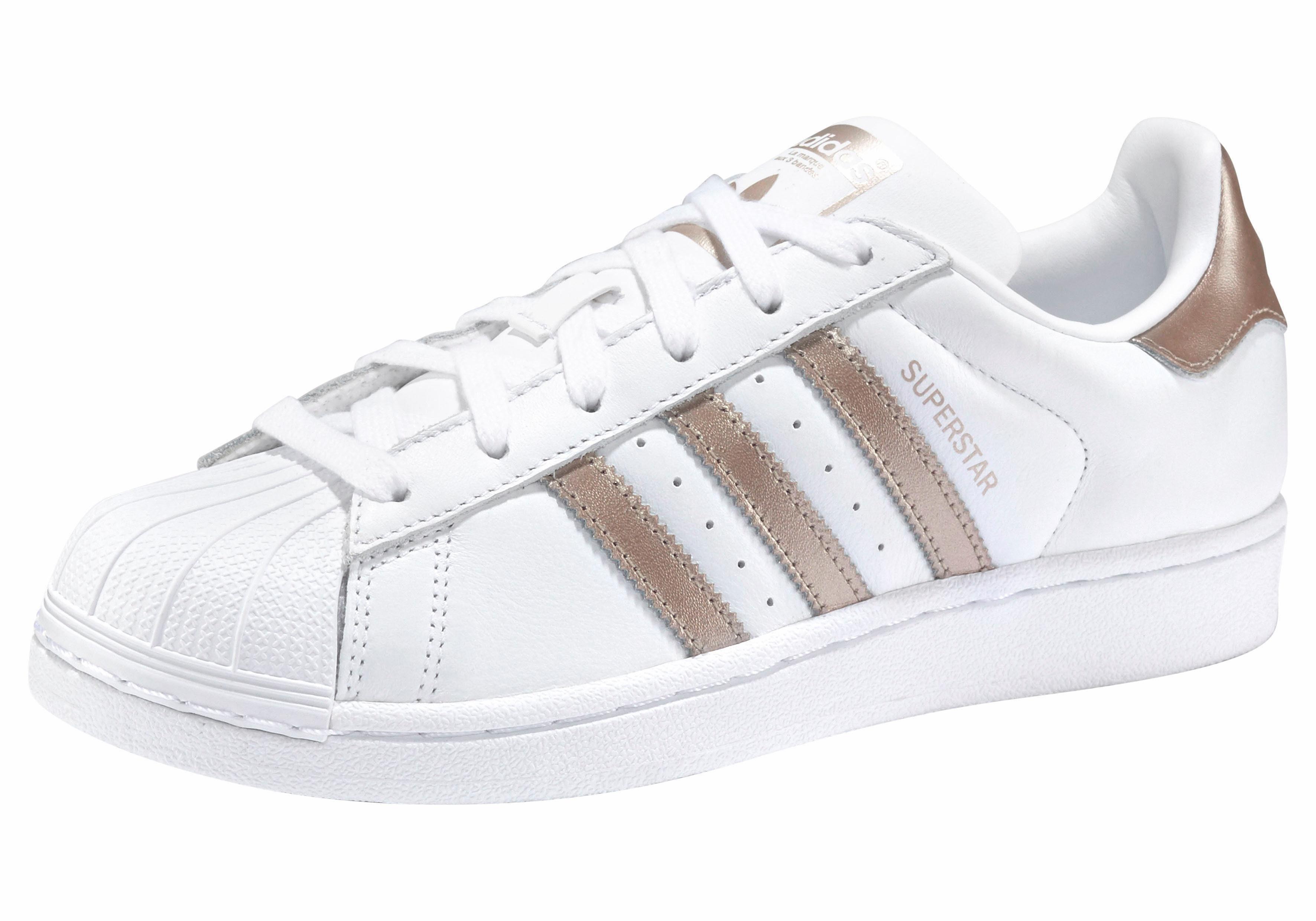 adidas Originals Superstar W Sneaker, Seasonal  weiß-goldfarben