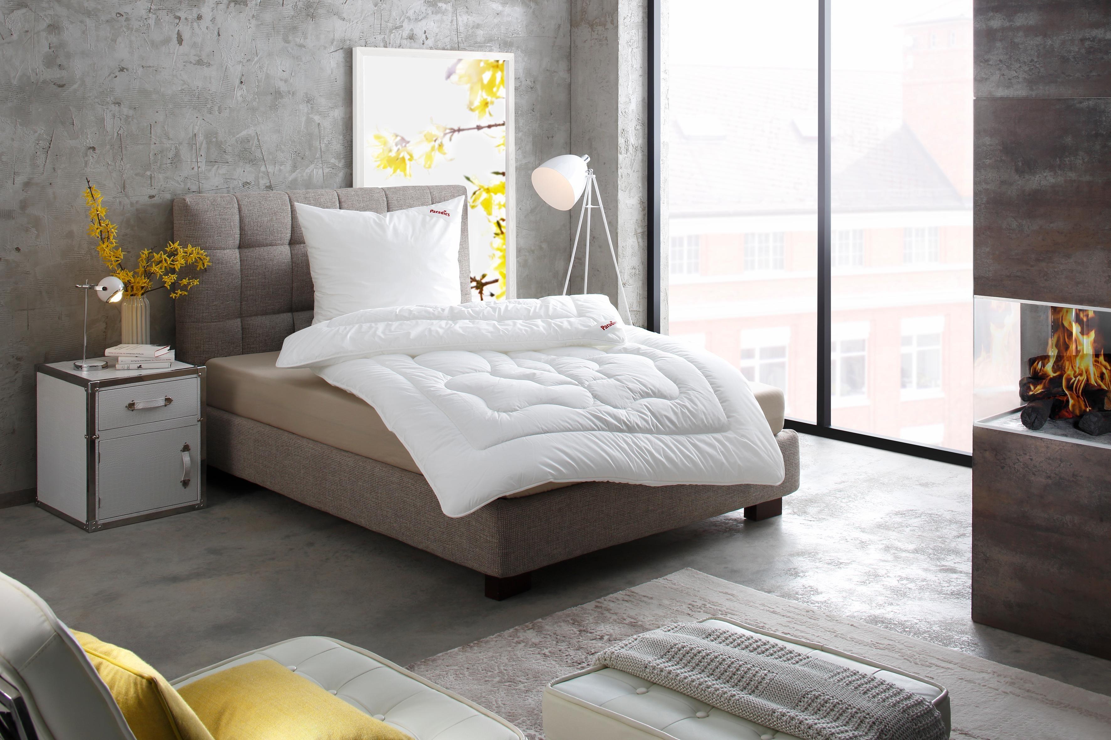 Kunstfaserbettdecke, »Prima-Duett«, Paradies, warm, (1-tlg) | Heimtextilien > Decken und Kissen > Bettdecken | Baumwolle | Paradies