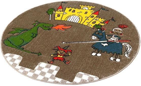 Kinderteppich »Momo Ritter«, Quinna Kids World, rund, Höhe 13 mm