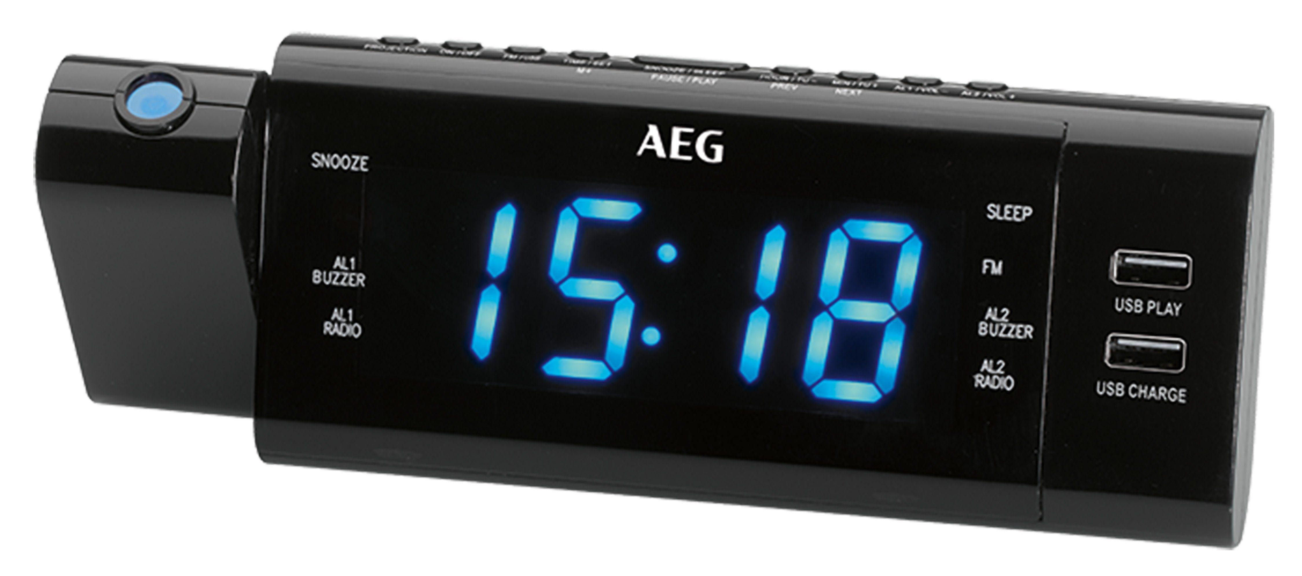 AEG PLL-Radio, Projektions-Uhrenradio, USB-Anschluss »MRC 4159 P«
