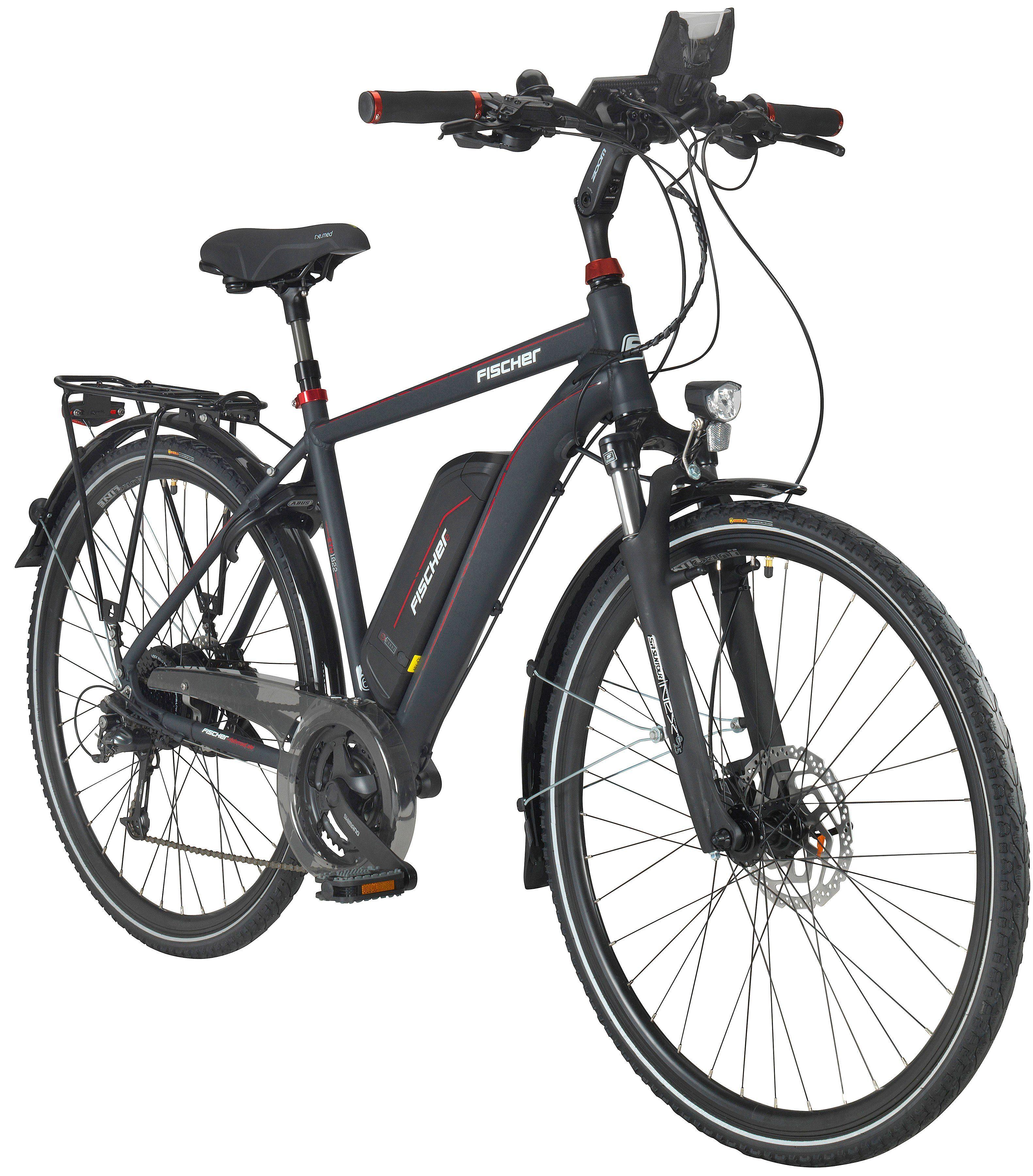 FISCHER FAHRRAEDER E-Bike Trekking Herren »ETH1822«, 71,12 cm (28 Zoll), 24 Gänge, 557 Wh, Heckmotor