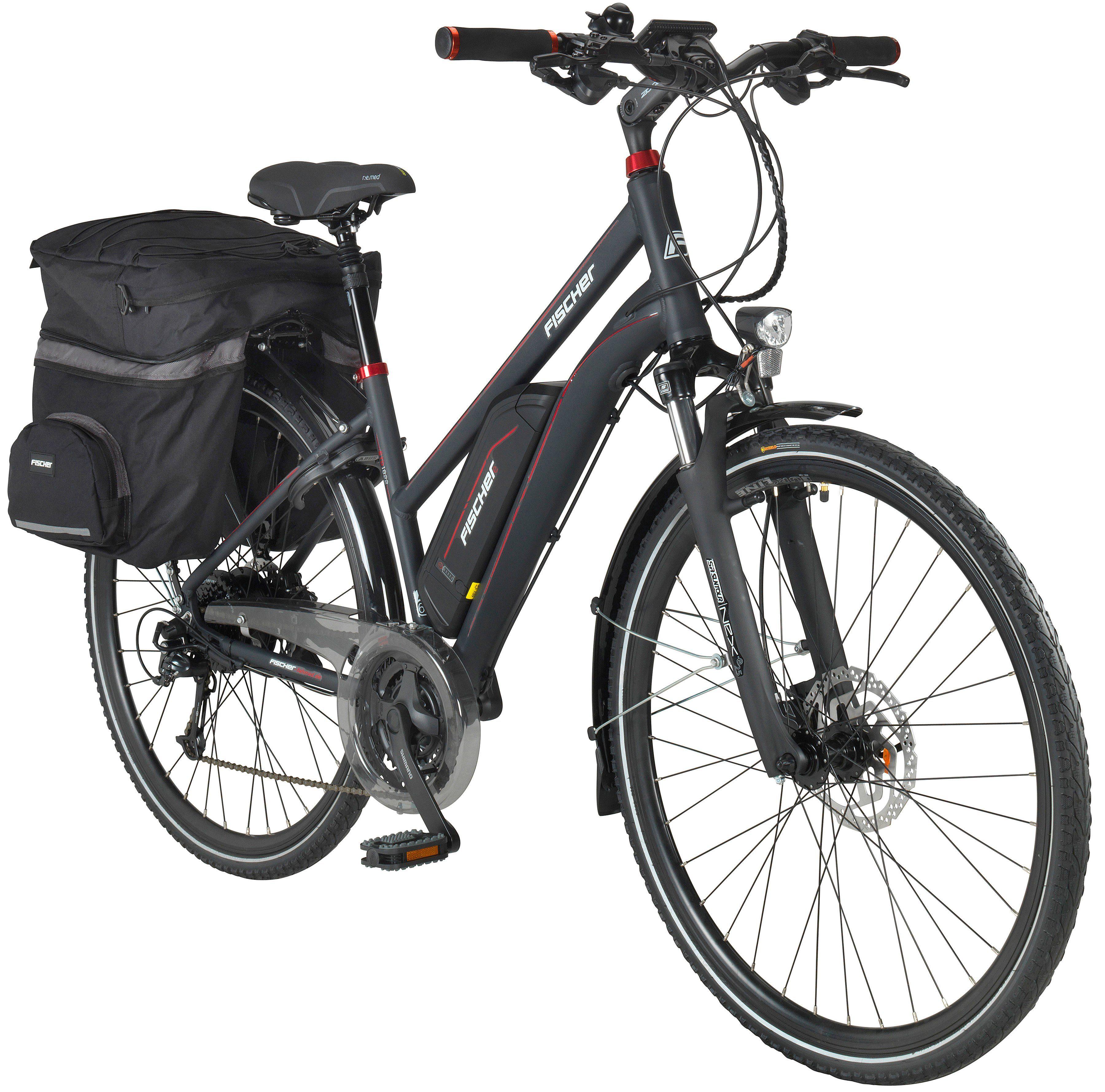 FISCHER FAHRRAEDER E-Bike Trekking Damen »ETD1822«, 71,12 cm (28 Zoll), 24 Gänge, 557 Wh, Heckmotor