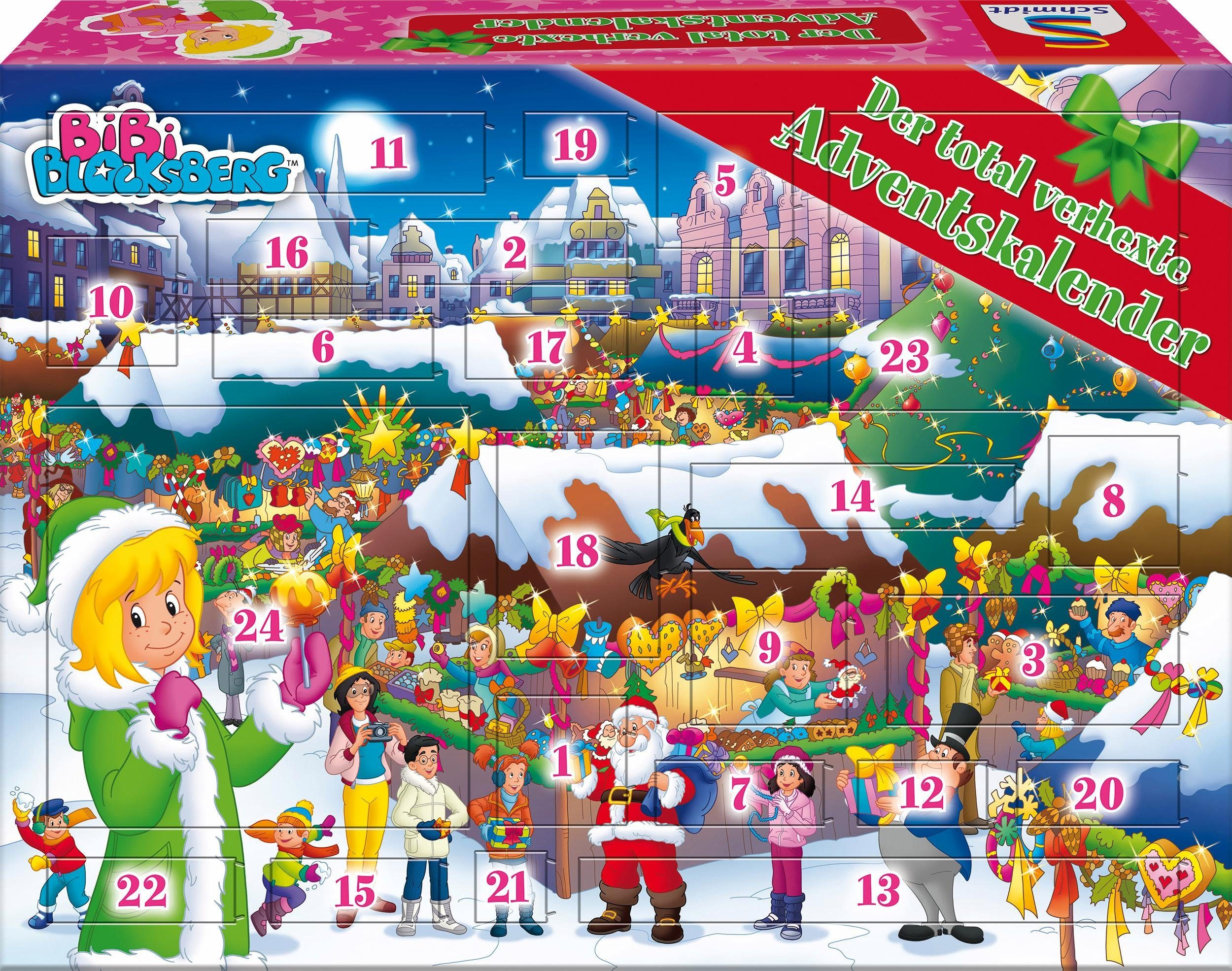 Schmidt Spiele Adventskalender, »Der total verhexte Adventskalender, Bibi Blocksberg ™«