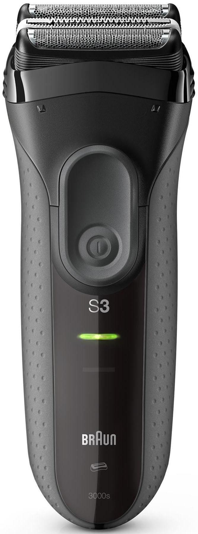 Braun Rasierer Series 3 ProSkin 3000s, wiederaufladbarer Elektrorasierer, schwarz
