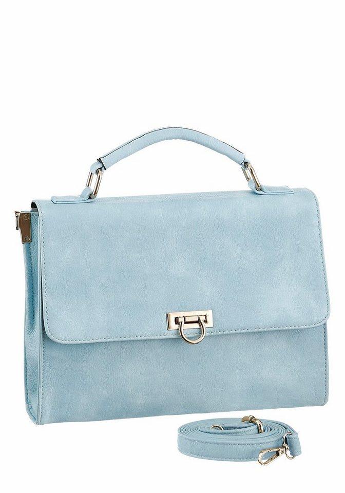 Damen Laura Scott Umhängetasche mit dekorativem Steckverschluss blau | 04250892392257