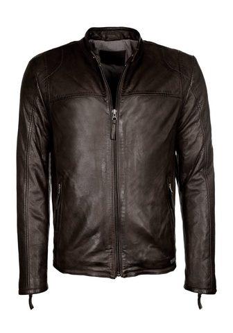 Куртка кожаная с воротник стойка Frede...
