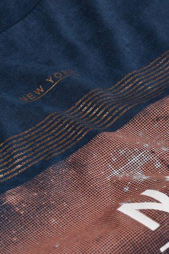 """Next T-Shirt in Acid-Waschung mit """"NYC""""-Aufdruck"""