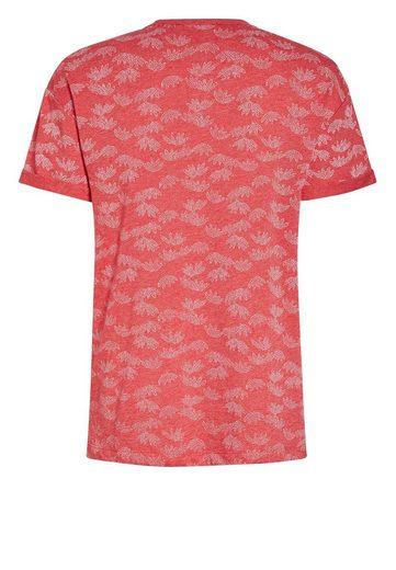 Next T-Shirt mit Blättermotiven