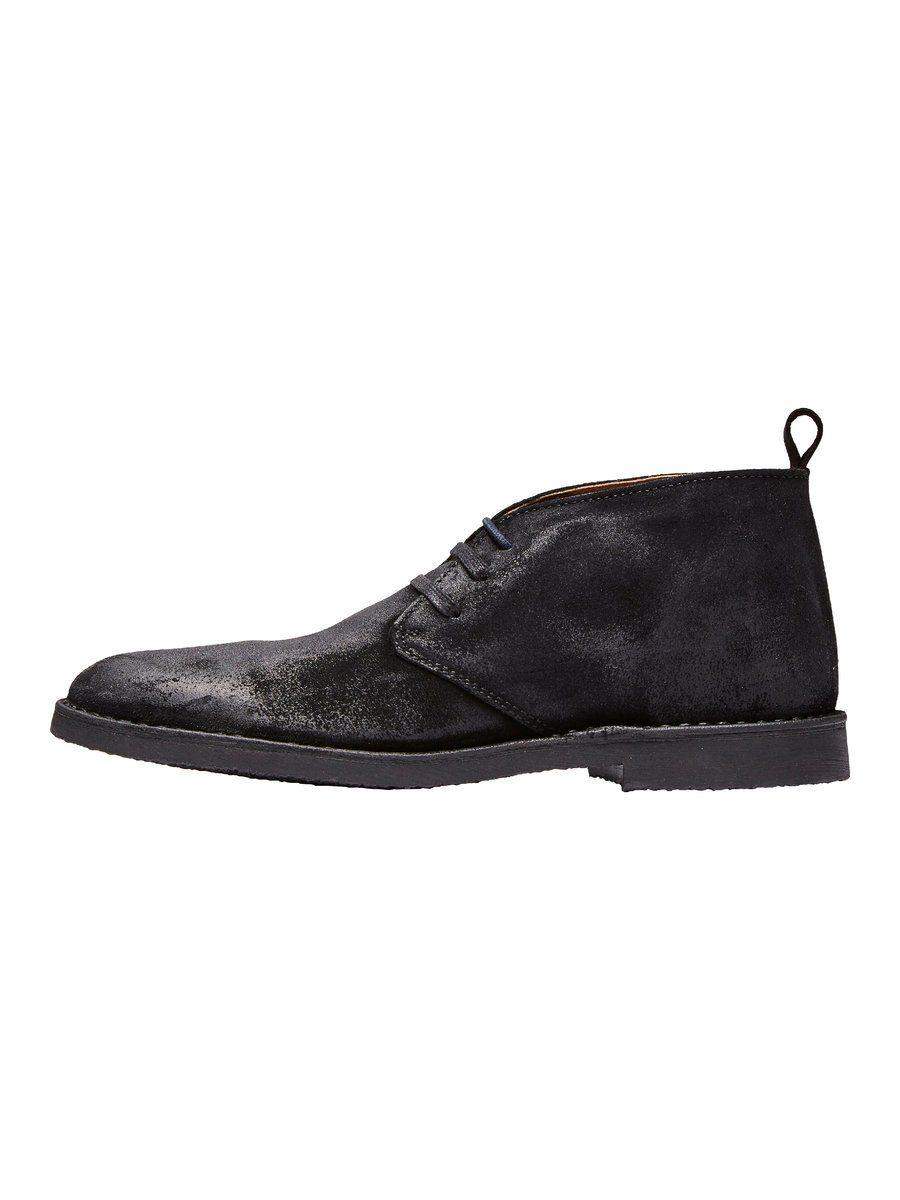 Selected Homme Chukka- Lederstiefel online kaufen  Black
