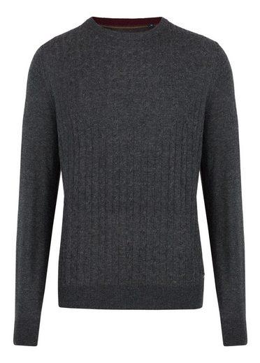 Daniel Hechter Moderner Rundhals-Pullover mit elegantem Zopfstrick-Muster