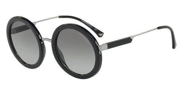 Emporio Armani Damen Sonnenbrille » EA4106«, schwarz, 500111 - schwarz/grau