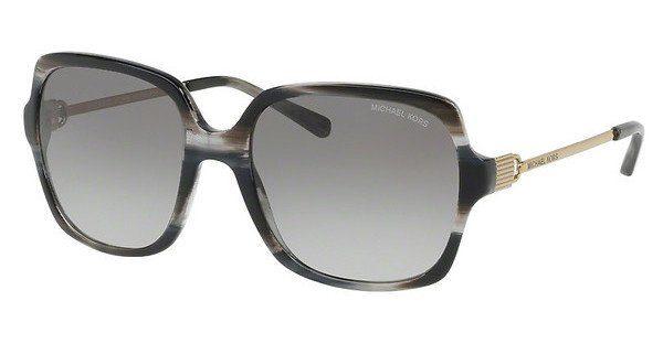 MICHAEL KORS Michael Kors Damen Sonnenbrille »BIA MK2053«, braun, 329113 - braun/braun