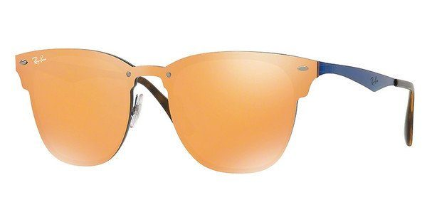 RAY BAN RAY-BAN Sonnenbrille »Blaze Clubmaster RB3576N«, rosa, 9039V0 - rosa/rot