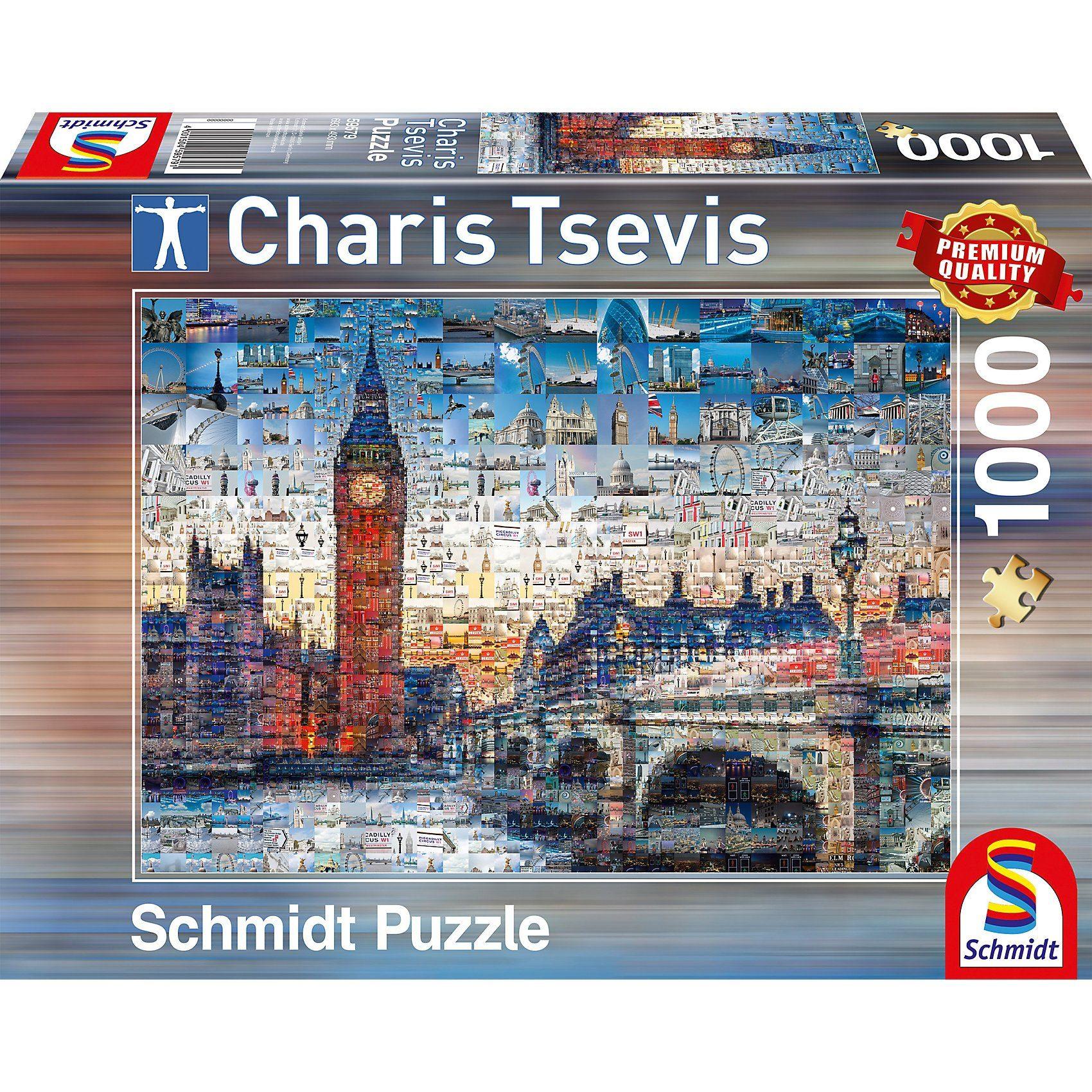 Schmidt Spiele Puzzle 1000 Teile London von Charis Tsevis