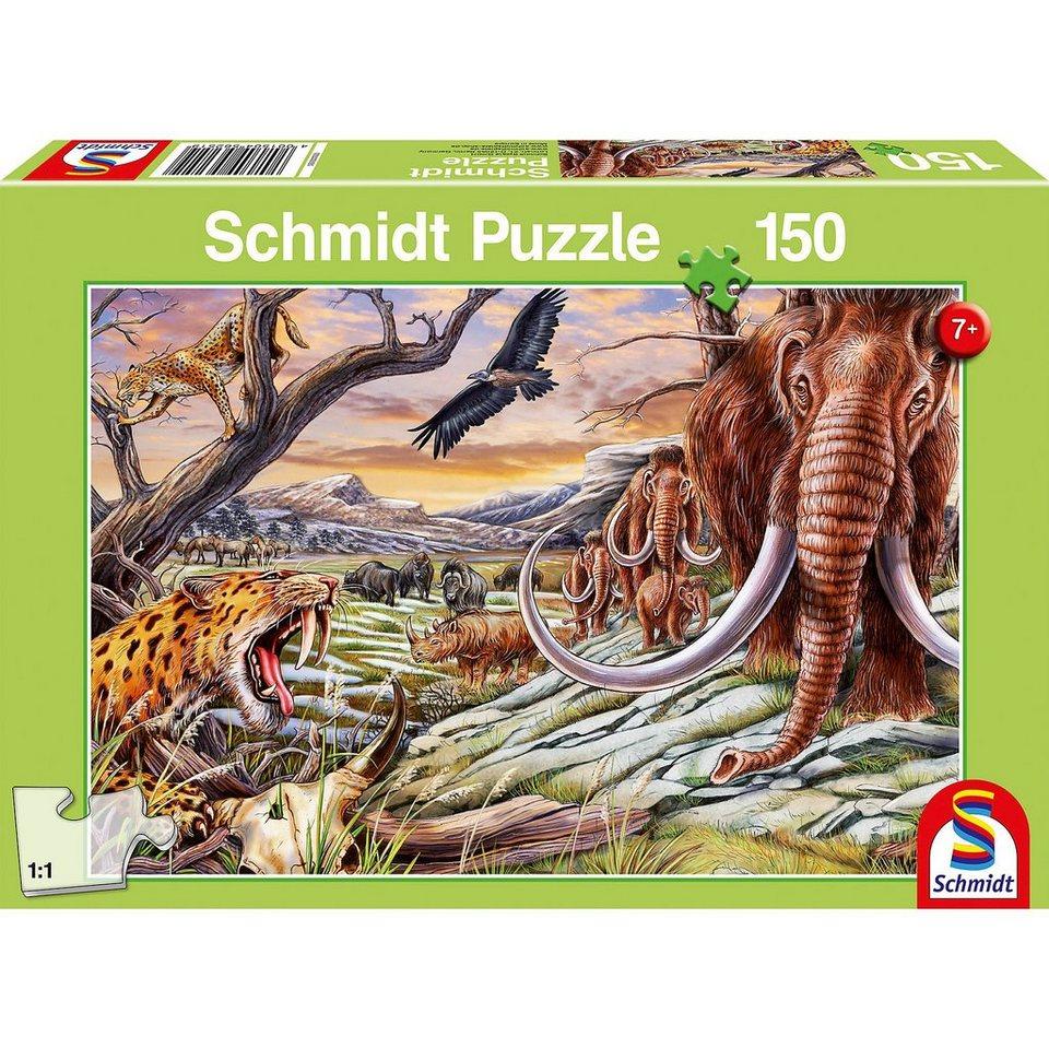 Schmidt Spiele Puzzle 150 Teile Tiere der Eiszeit