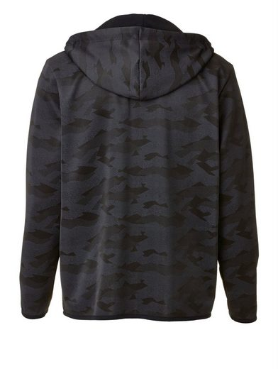 Men Plus by Happy Size Trainingsjacke Camouflage mit Kapuze