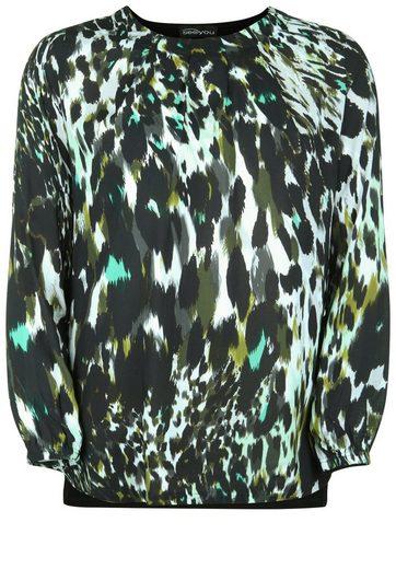 seeyou Klassische Bluse mit Dschungel-Muster