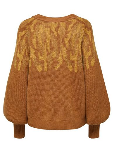 Selected Femme Woll-Print- Strickpullover