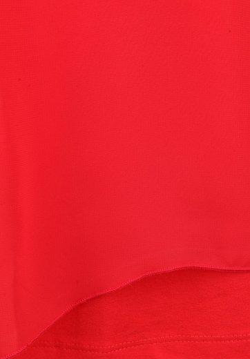seeyou Klassische Bluse mit transparentem Oberteil